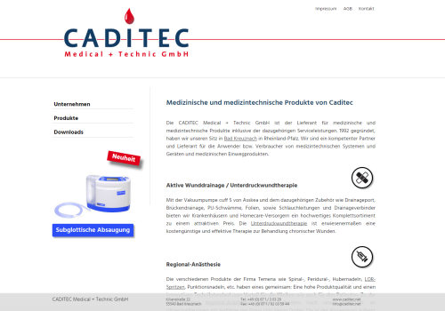 Caditec Medical+Technic GmbH, Bad Kreuznach